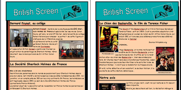 British Screen: Journal des 5èmes C