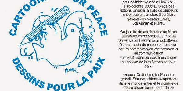 Exposition Cartooning for Peace au collège Romain Rolland